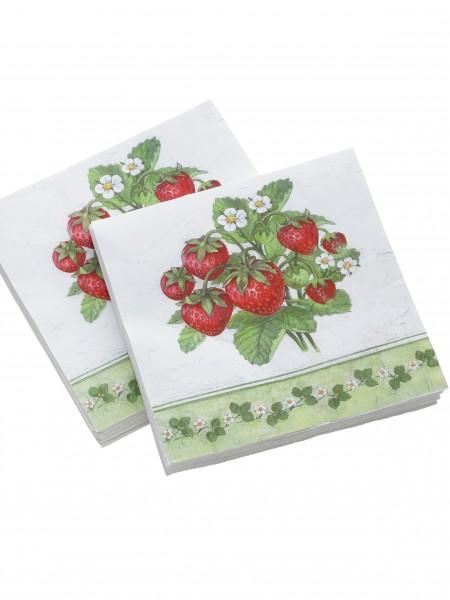 """Servietten """"Erdbeere"""""""