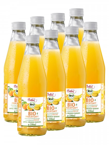 Bio-3-Fruchtsaft, 8er Pack