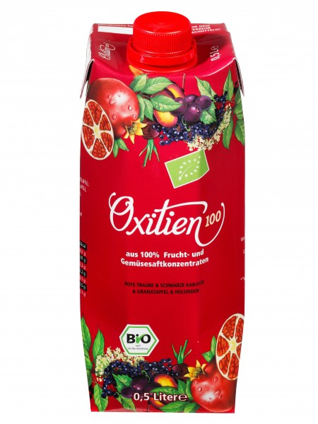 """Oxitien 100, """"Multifrucht Plus"""" Bio-Saft"""