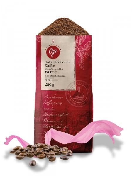 Entkoffeinierter Kaffee, gemahlen