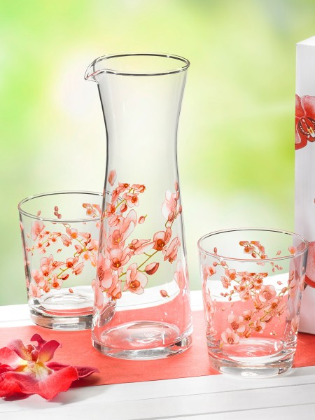 "Glas-Set ""Orchidee"""