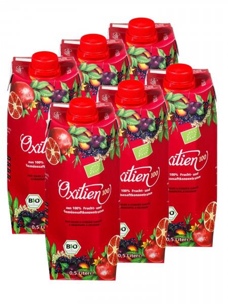 """Oxitien 100, """"Multifrucht Plus"""" Bio-Saft, 6er"""
